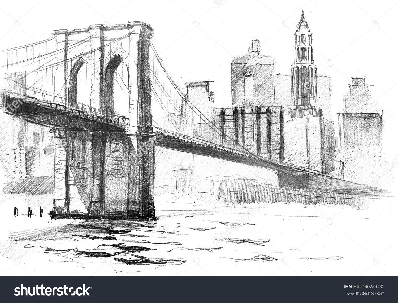 Bridge clipart sketch easy 1378