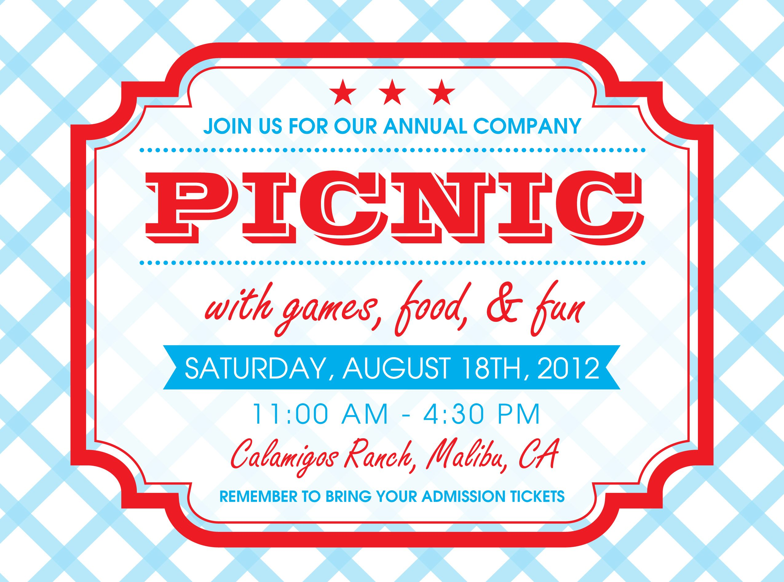 Picnic Invitation Design By Megan Hoeffliger  My Portfolio
