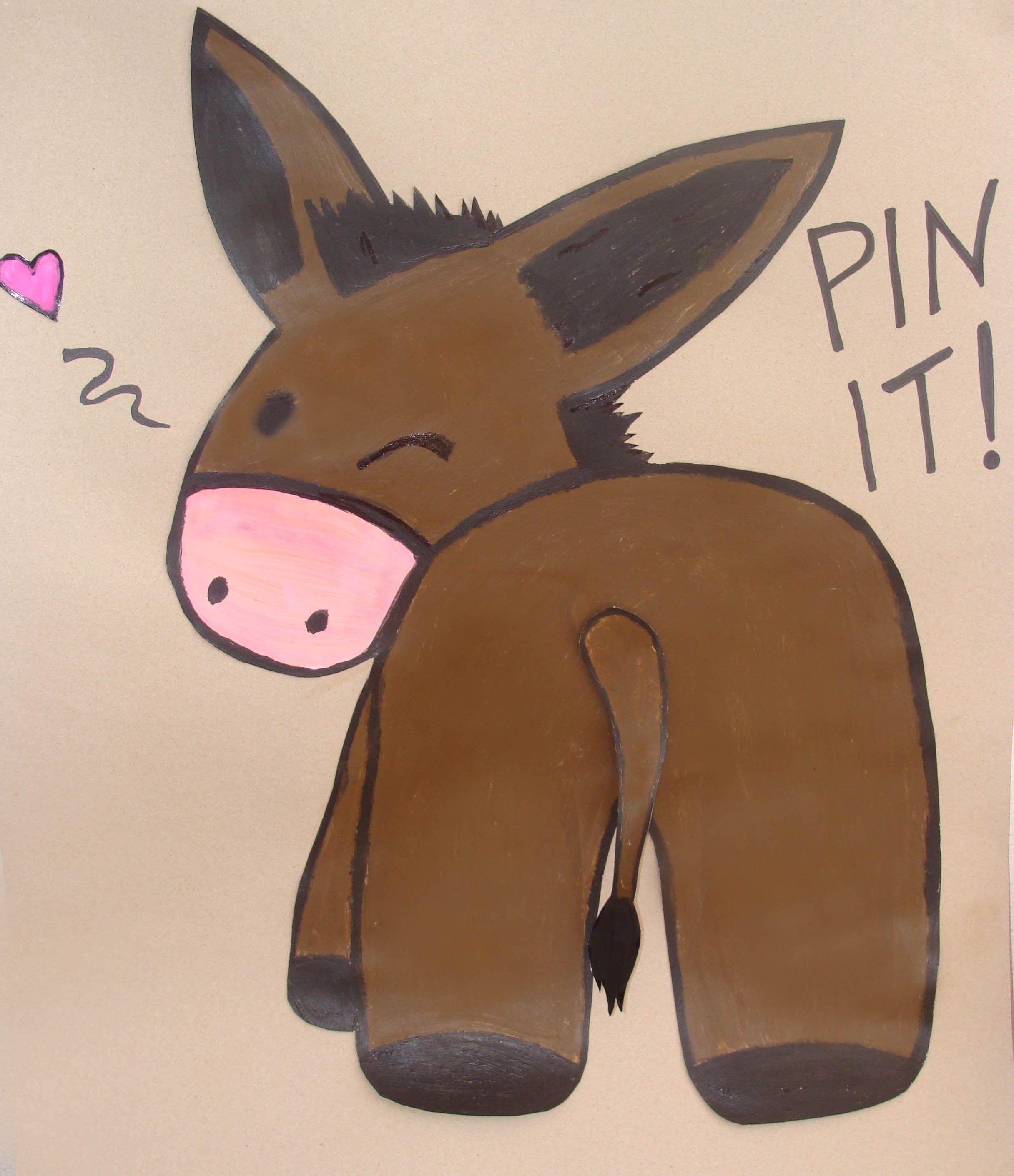 Pin The Tail On Donkey Kids Party Farm Themed Barnyard Birthday