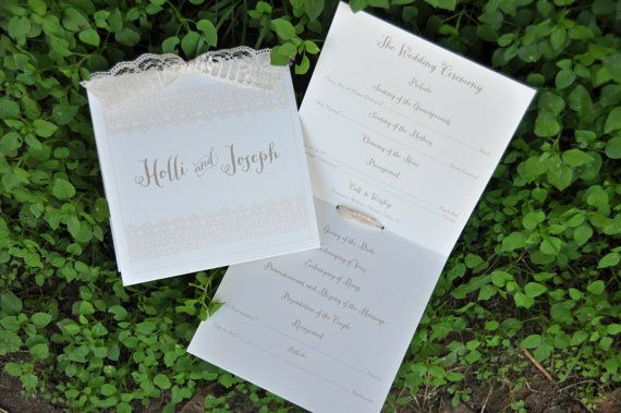 100 Vintage MultiPage Wedding Programs By WiregrassWeddings 15500