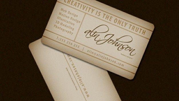 Presentation Vintage Business Card Template | Business cards ...