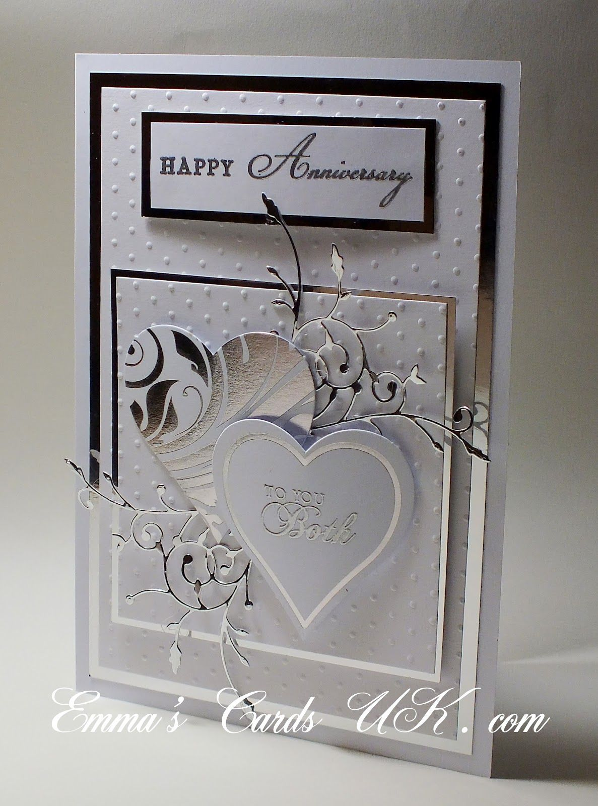 Stunning Anniversary Card Love The Look Of Silver And White Together