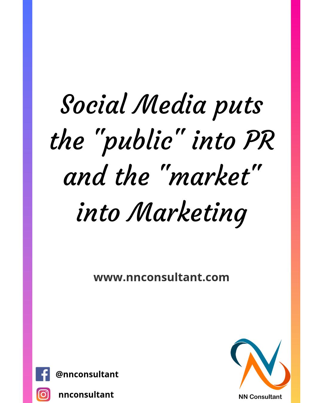 Social Media Social Media puts the