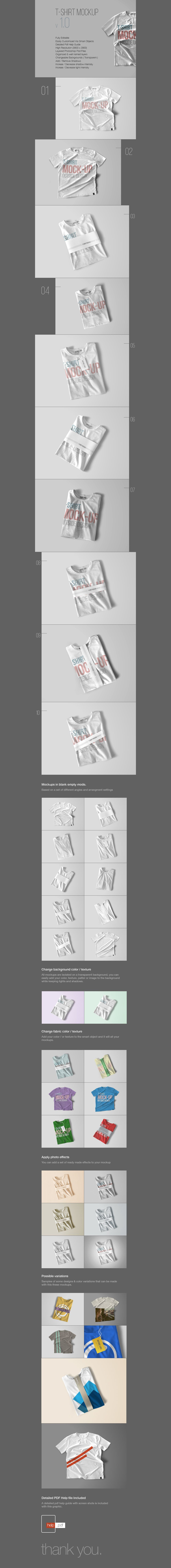 Free PSD T-Shirt Mockup Template (96 MB) | themeraid.com | #free ...