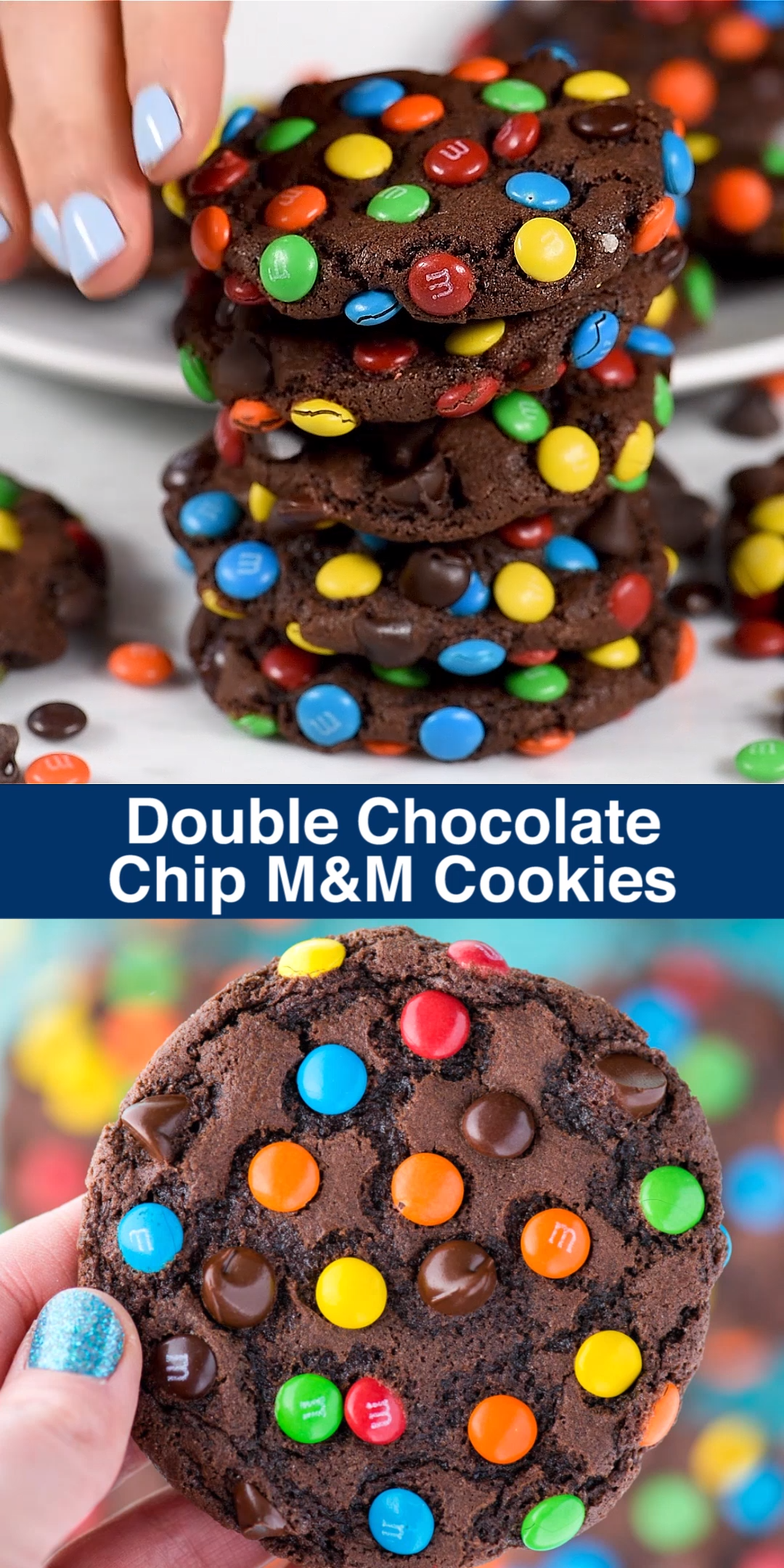 Photo of Double Chocolate Chip M&M Cookies