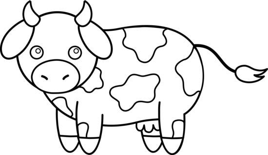 Cow Minus The Horns Animal Clipart Animal Clipart Free Cow Illustration