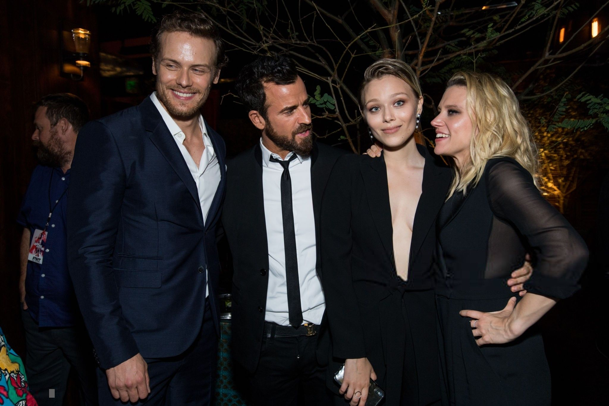 Here Are Newpics Of Sam Heughan At The After Party Of The Spy Who