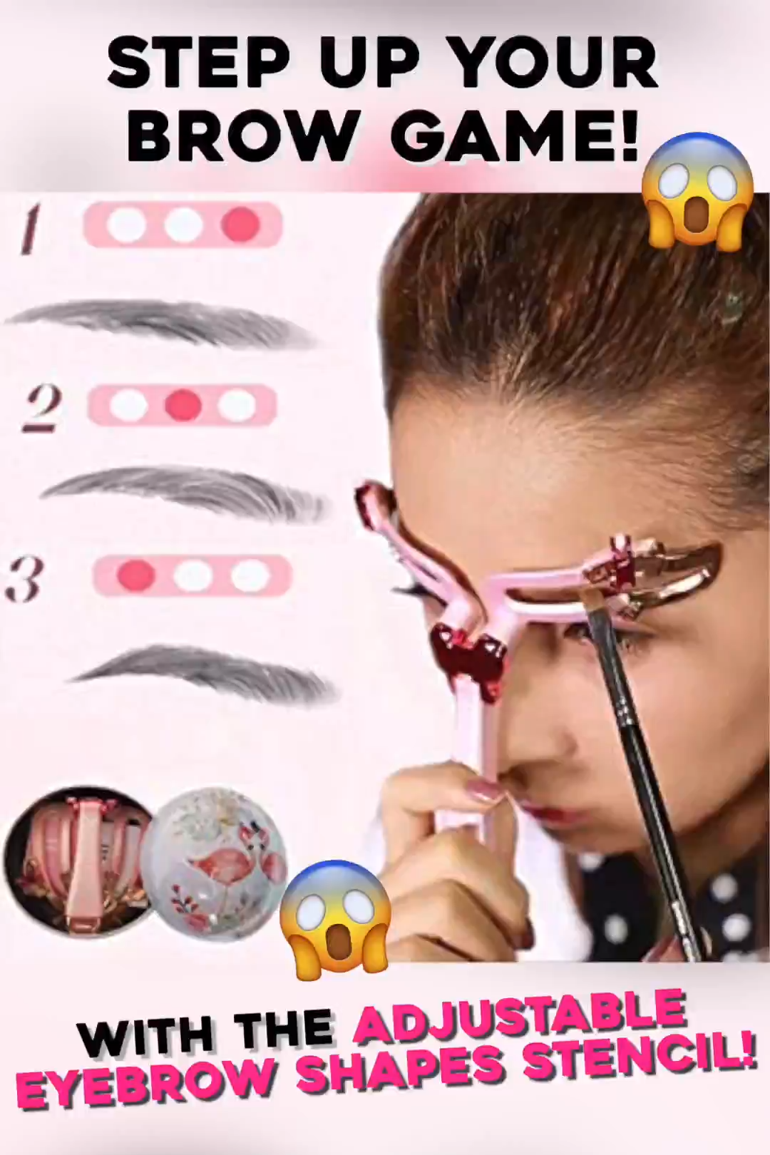 Photo of Adjustable Eyebrow Shapes Stencil