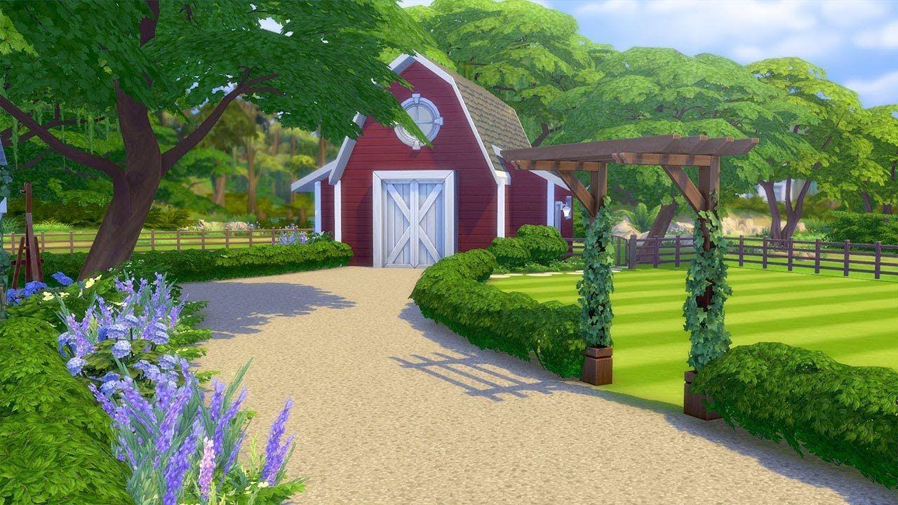 Let S Landscape A Farm In The Sims 4 Part 2 Landscape Ideas Front Yard Curb Appeal Farm Landscaping Landscape