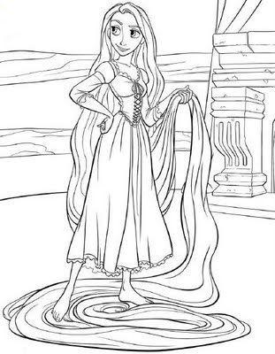 Halloween Coloring Pages: Disney Princess Coloring Pages - Rapunzel ...