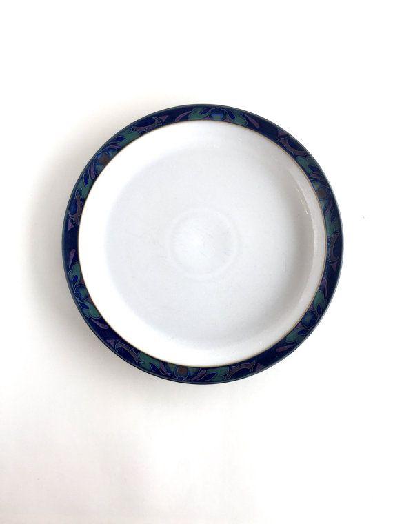 Vintage Denby-Langley Boroque Dinner Plate by SandHollowVintage  sc 1 st  Pinterest & Vintage Denby-Langley Boroque Dinner Plate | Utensils Dishwashers ...