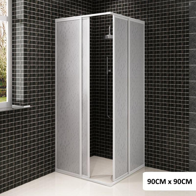 Rectangle PP Board Corner Shower Enclosure 90x90cm | Buy Home ...