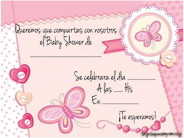 Pin De Magda En Niña Invitaciones De Baby Shower Para