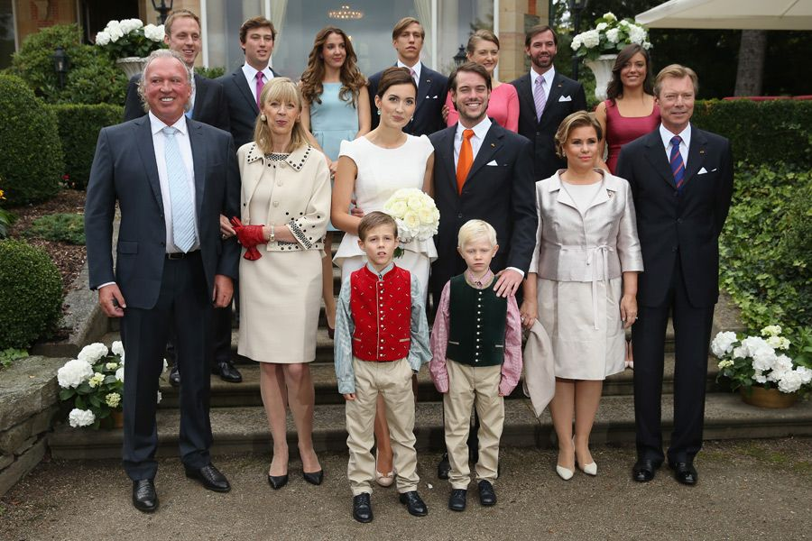 The Luxembourg royal family gathers for the civil wedding ceremony of Prince Felix and Claire Lademacher 9/17/2013