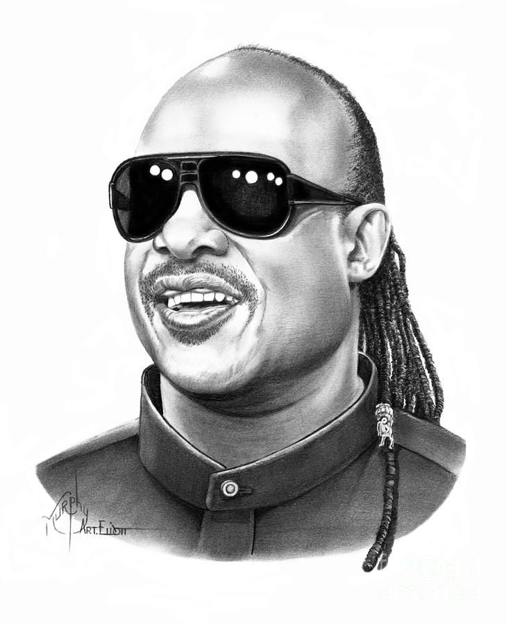 Stevie Wonder by Murphy Elliott ~ traditional pencil art ...
