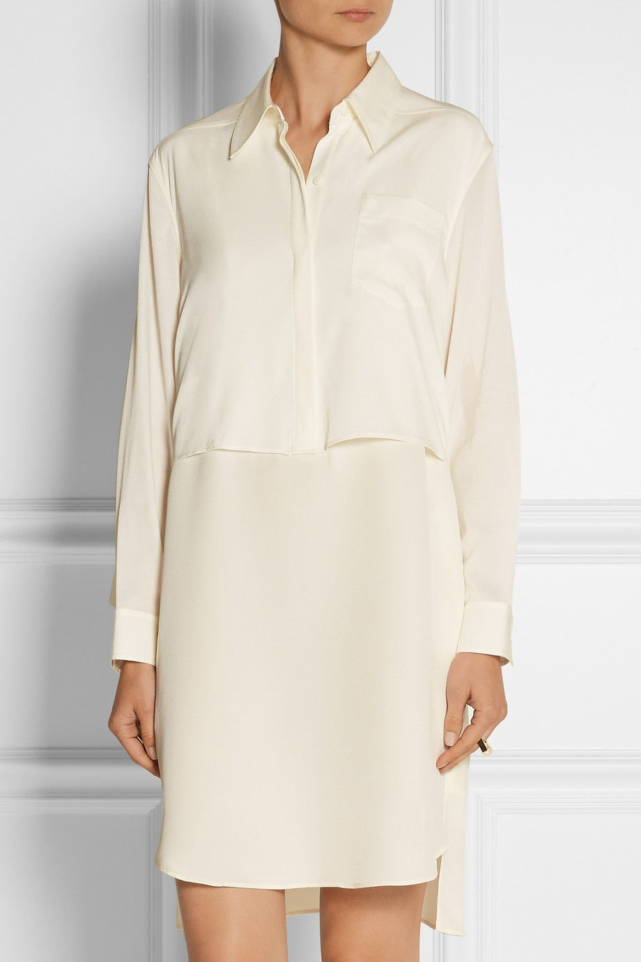 Cost Cheap Price Visit 3.1 Phillip Lim Woman Cotton And Silk-blend Mini Dress White Size M 3.1 Phillip Lim 100% Original Cheap Online Discount Great Deals Online Cheap Authentic DF3NE6cGZ