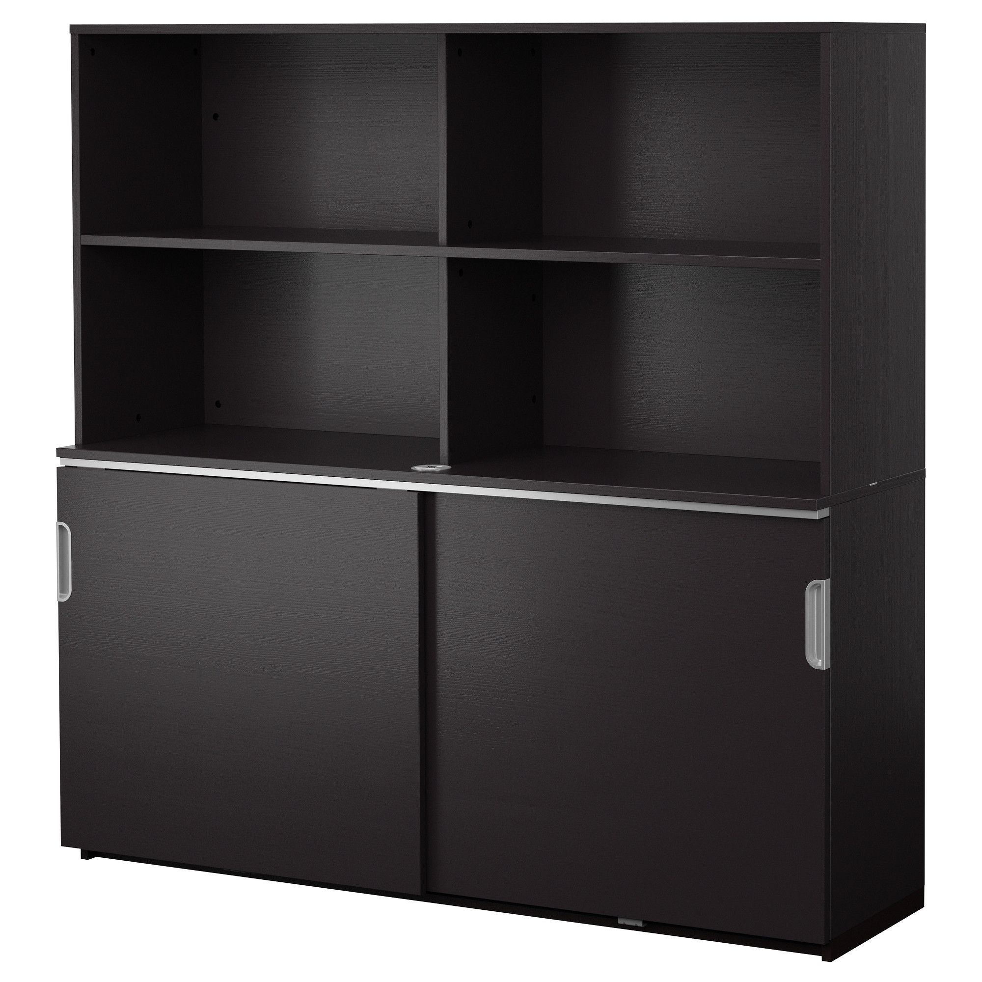 Galant Storage Combination W Sliding Doors Black Brown Ikea