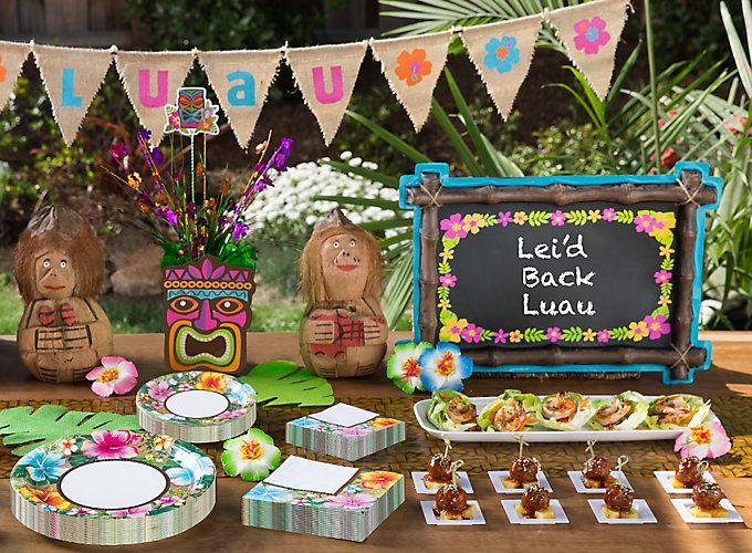 Bright And Breezy Ideas For Luau Food Tiki Bars Games