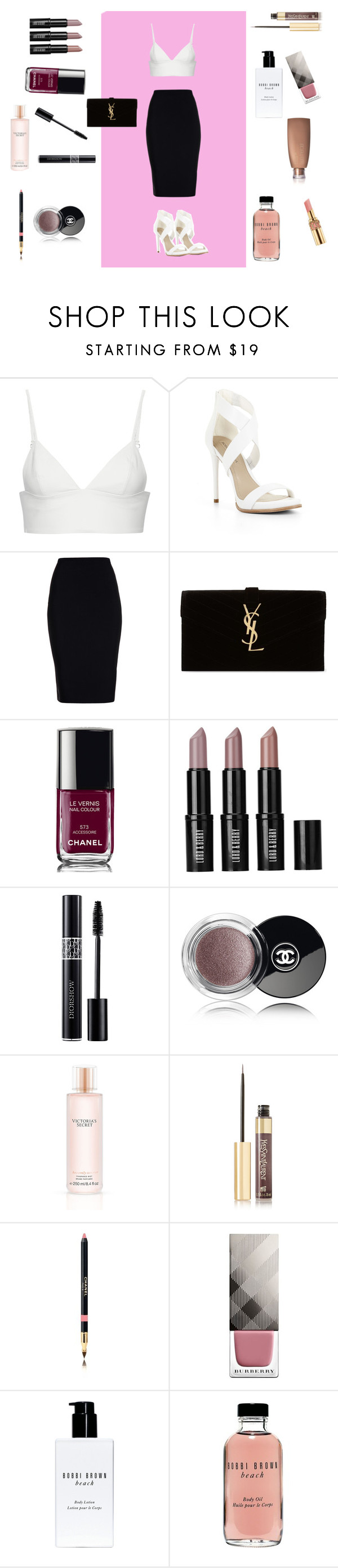 """""""(•_•)"""" by jasminehopex ❤ liked on Polyvore featuring T By Alexander Wang, BCBGMAXAZRIA, Roland Mouret, Yves Saint Laurent, Chanel, Lord & Berry, Christian Dior, Victoria's Secret, Burberry and Bobbi Brown Cosmetics"""