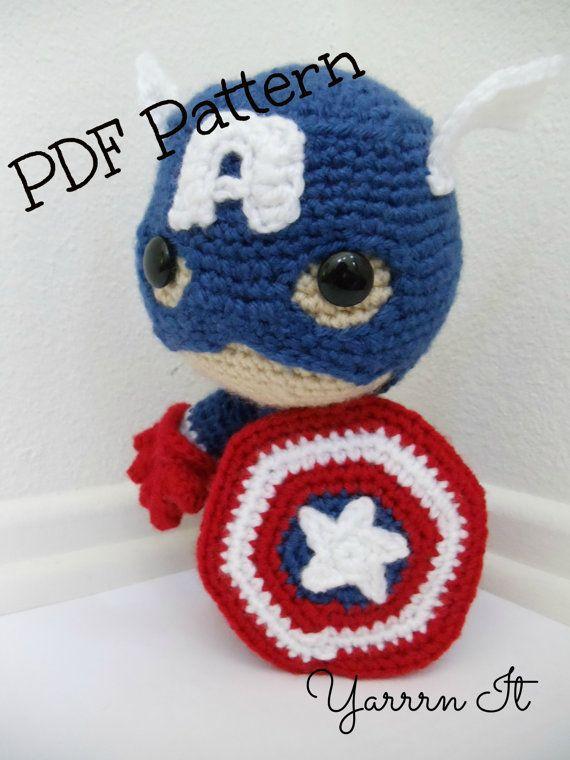 Captain America Sackboy Amigurumi PDF Pattern -English and SPANISH ...
