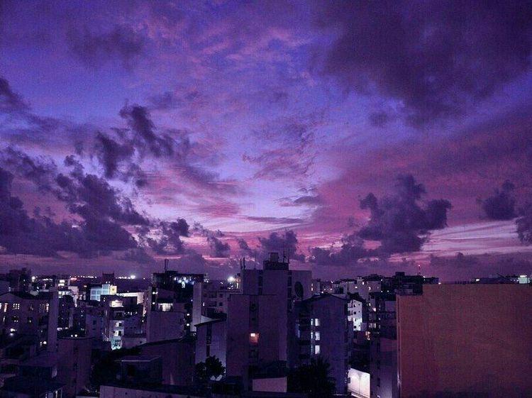 Tumblr Purple City Aesthetic Sunset City Purple Sunset