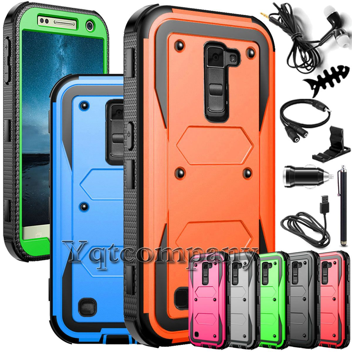 Impact Protective Rugged Hybrid Rubber Hard Case Cover For LG K10 w/ Accessories | eBay