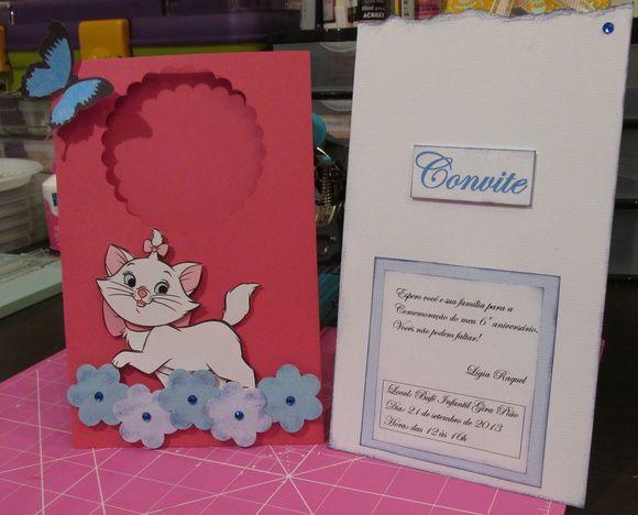 Convite Gatinha Marie Invitaciones De Cumpleaños