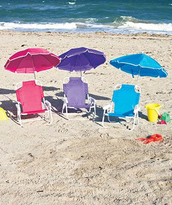 Kidsu0027 Beach Chair With Adjustable Umbrella