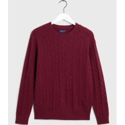 Photo of Gant Lambswool Pullover mit Zopfmuster (Rot) GantGant