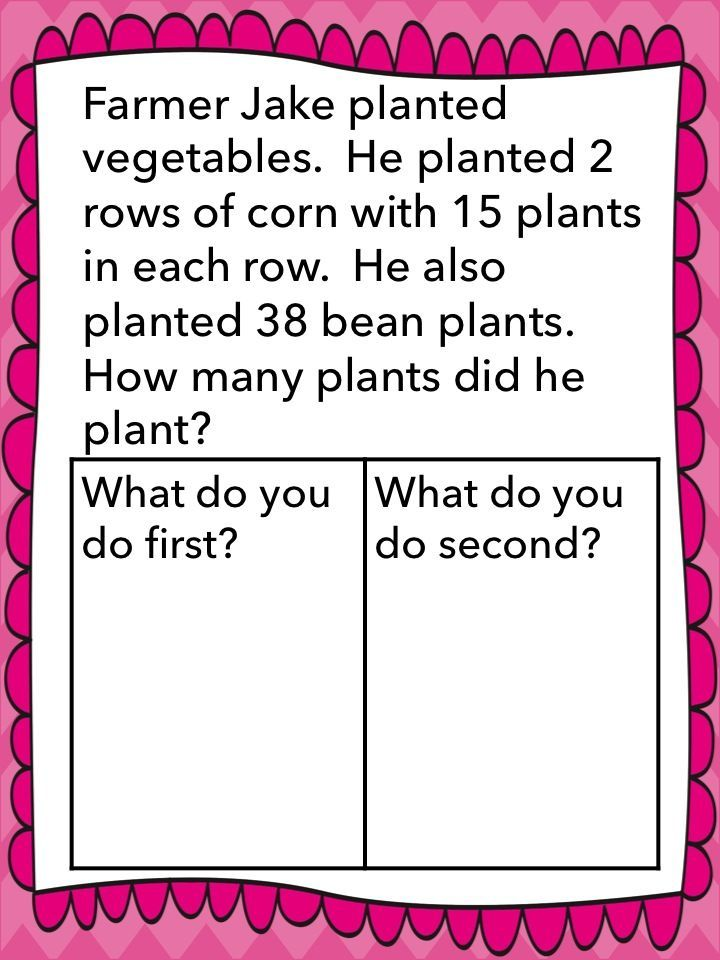 Solve multi-step word problems to 100!  Projectable and also printable!