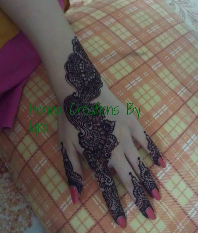 Credits Henna Creations By Iqra On Facebook Mehndi Henna