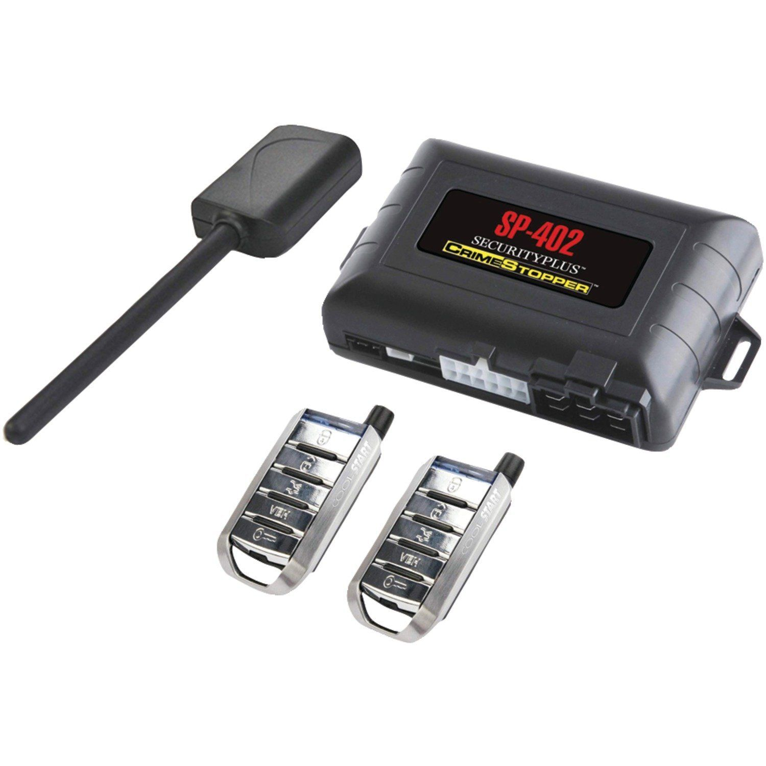 Crimestopper Car Alarm with Remote Start Keyless Entry and