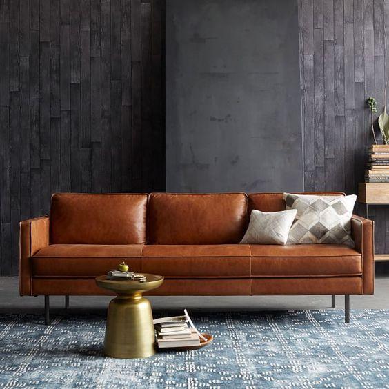 sofá tapizado en piel | DEPA Y MUEBLES | Pinterest | Tapizado, Sofá ...