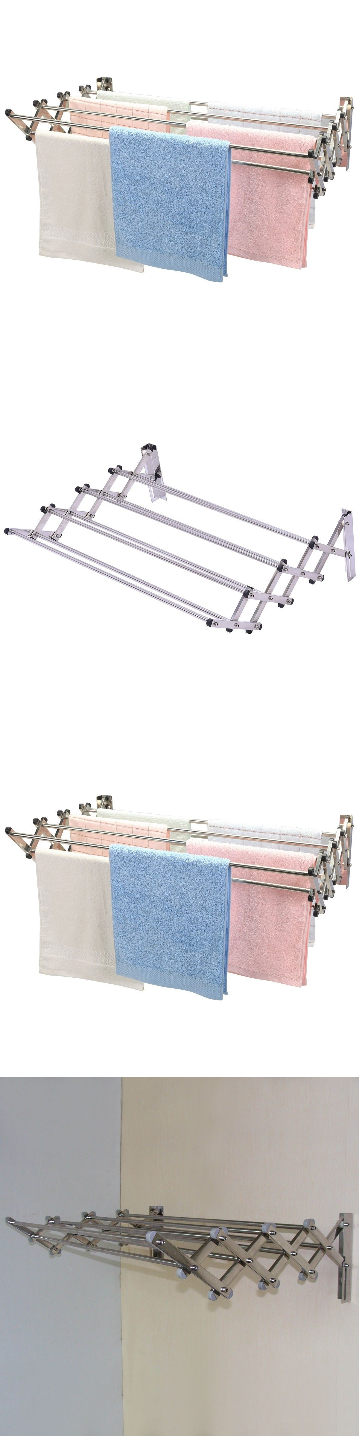 Clotheslines and laundry hangers stainless steel wall mount