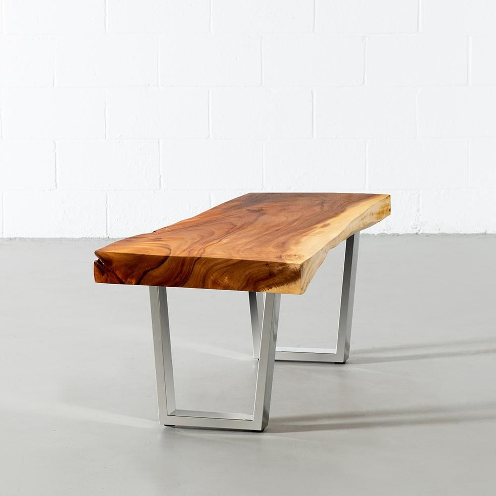 - Suar Live Edge Wood Bench with Chrome U Legs  . #livecolorfully #bohemianhome #bohemiandecor #myinterior #apartmenttherapy #showemyourstyled #sodomino #interiorswithpersonality #mycovetedhome #mycuratedaesthetic #myeclecticstyle #anthropologie #jungalowstyle #styleithappy #Howyouwow #interiorwarrior #interiorstyling #interiors #houseandhome #inmydomaine #shelfie #shelfies #sofa #canada #toronto #midcenturymodern #bench