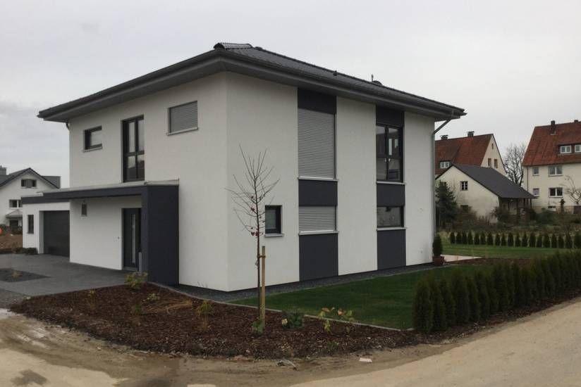 Stadtvilla in Steinheim modern, Passivhaus, Anthrazit