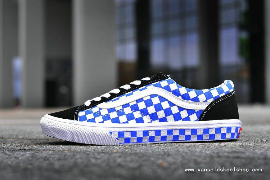 Isaac Suri Cliente  CHEAPEST VANS STYLE 36 BLUE BLACK CHECKERBOARD SKATE SHOE VANS FOR SALE    Wholesale nike shoes, Vans, Skate shoes