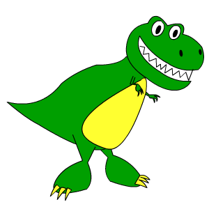 How To Draw An Easy Cartoon Dinosaur T Rex Learn To Draw Anything