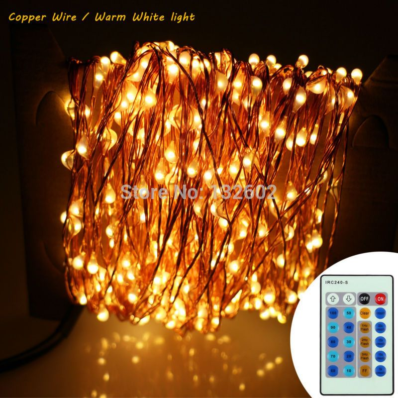 24m 480 Leds Copper Wire/Silver Wire LED String Lights Starry Lights ...
