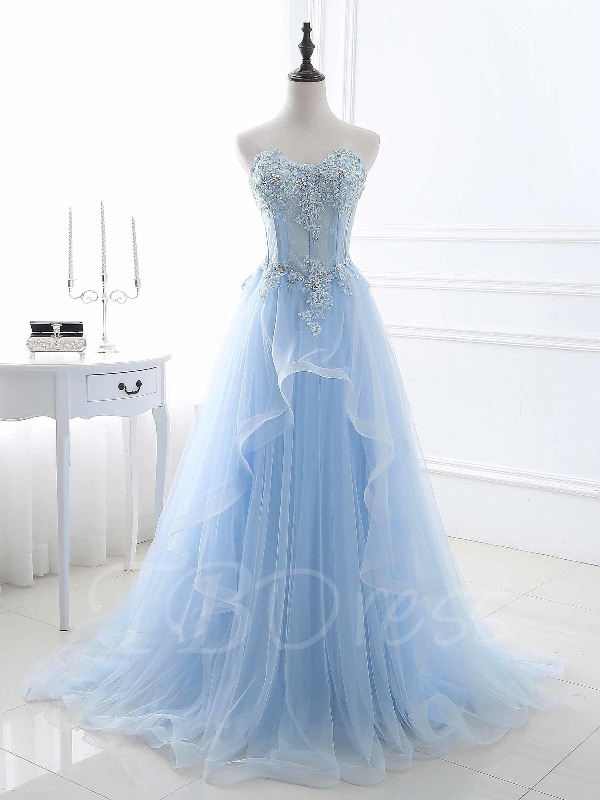 Tbdress tbdress sequins aline sweetheart beaded long prom dress