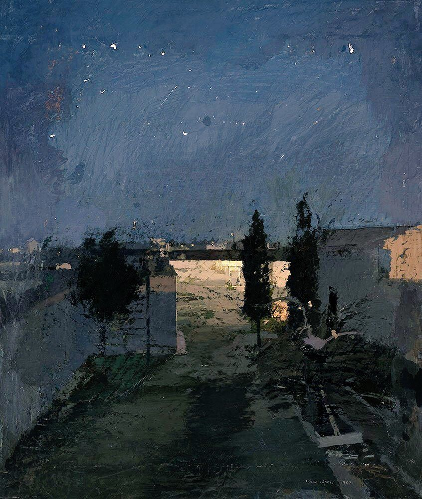 "soircharmant: ""Antonio López García - Tomelloso, Jardin la ..."