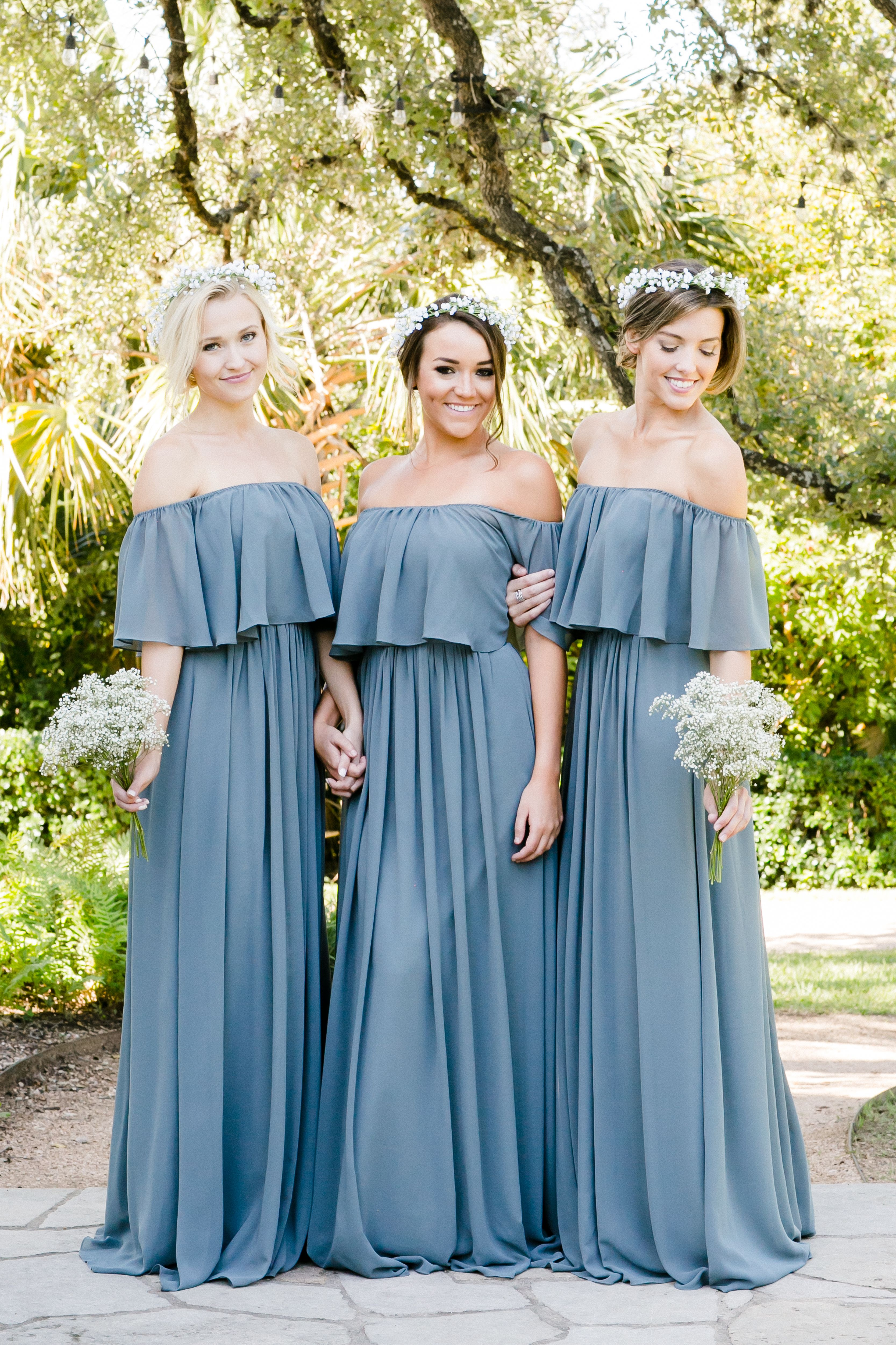 Abigail Chiffon Dress | Dusty blue bridesmaid dresses