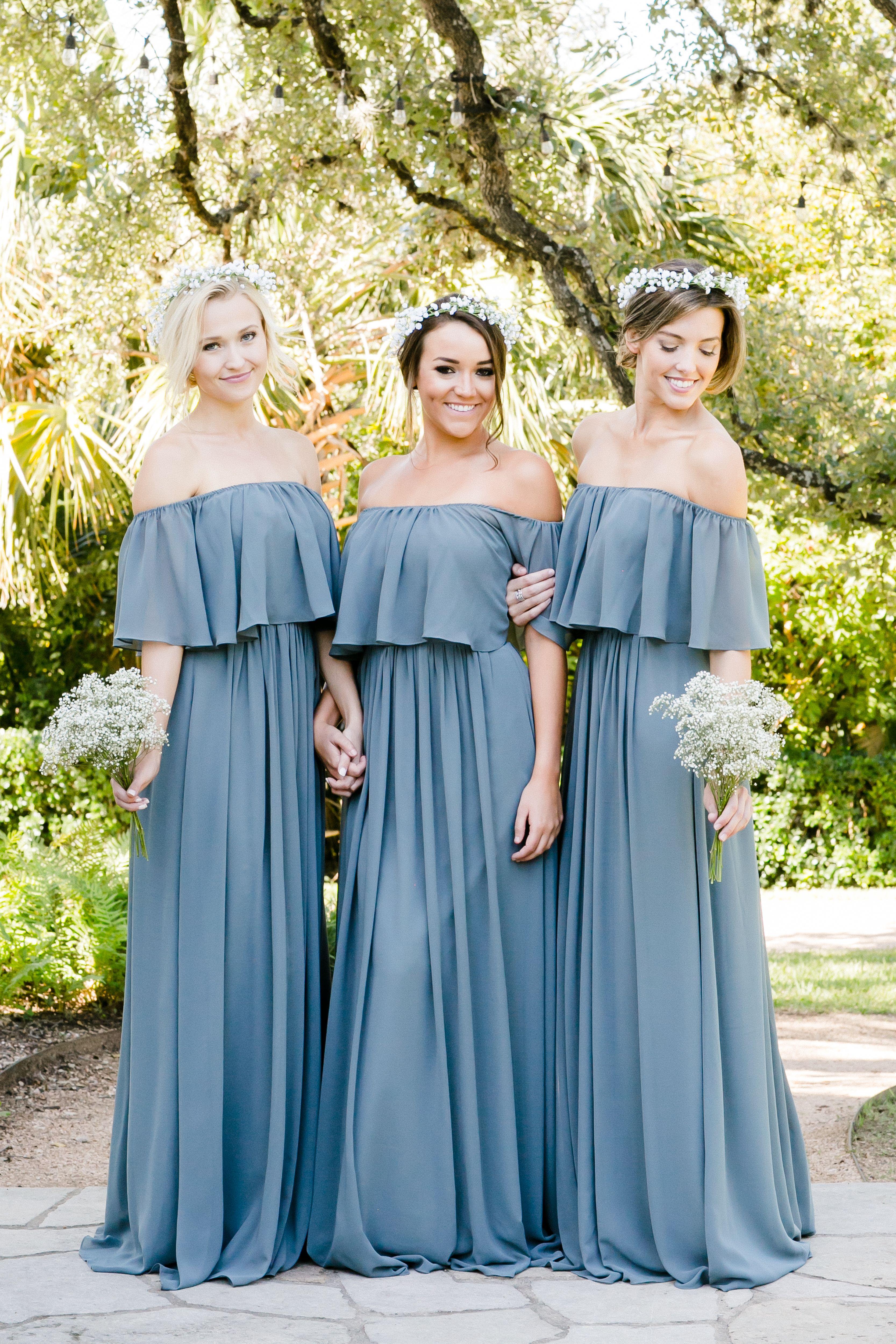 Abigail chiffon dress dusty blue chiffon bridesmaid dresses and abigail chiffon dress ombrellifo Images