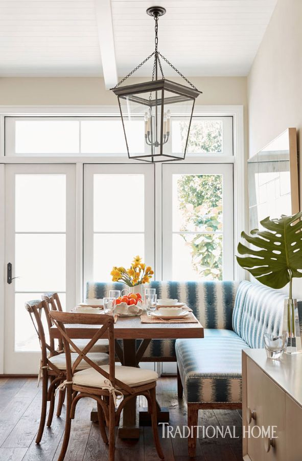 A Young Family S West Hollywood Home Banquette Dining Home Grace Home