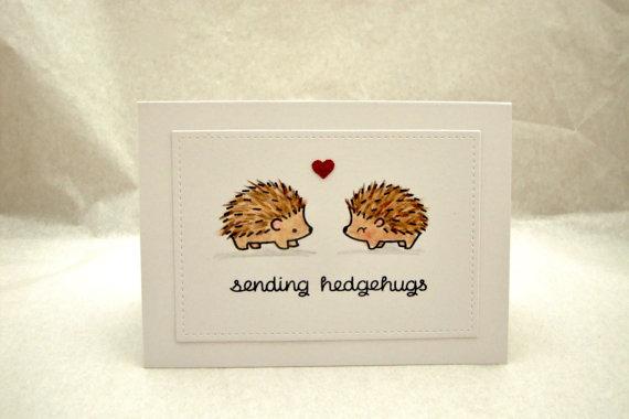 Hedgehog Birthday Card, Hedgehog Anniversary Card, Happy Birthday Hedgehog Card…
