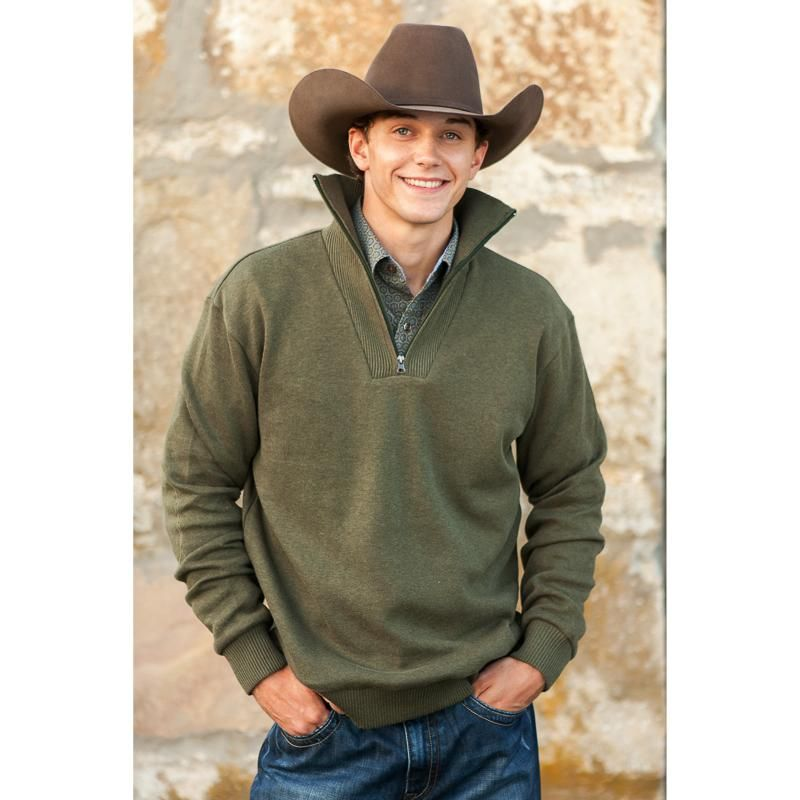 Men\u0027s Stetson Green Pullover Sweater