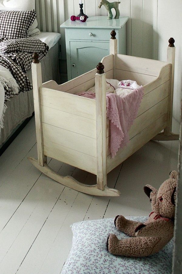 Adorable Little Wooden Crib For Whenever We Have Baby 2