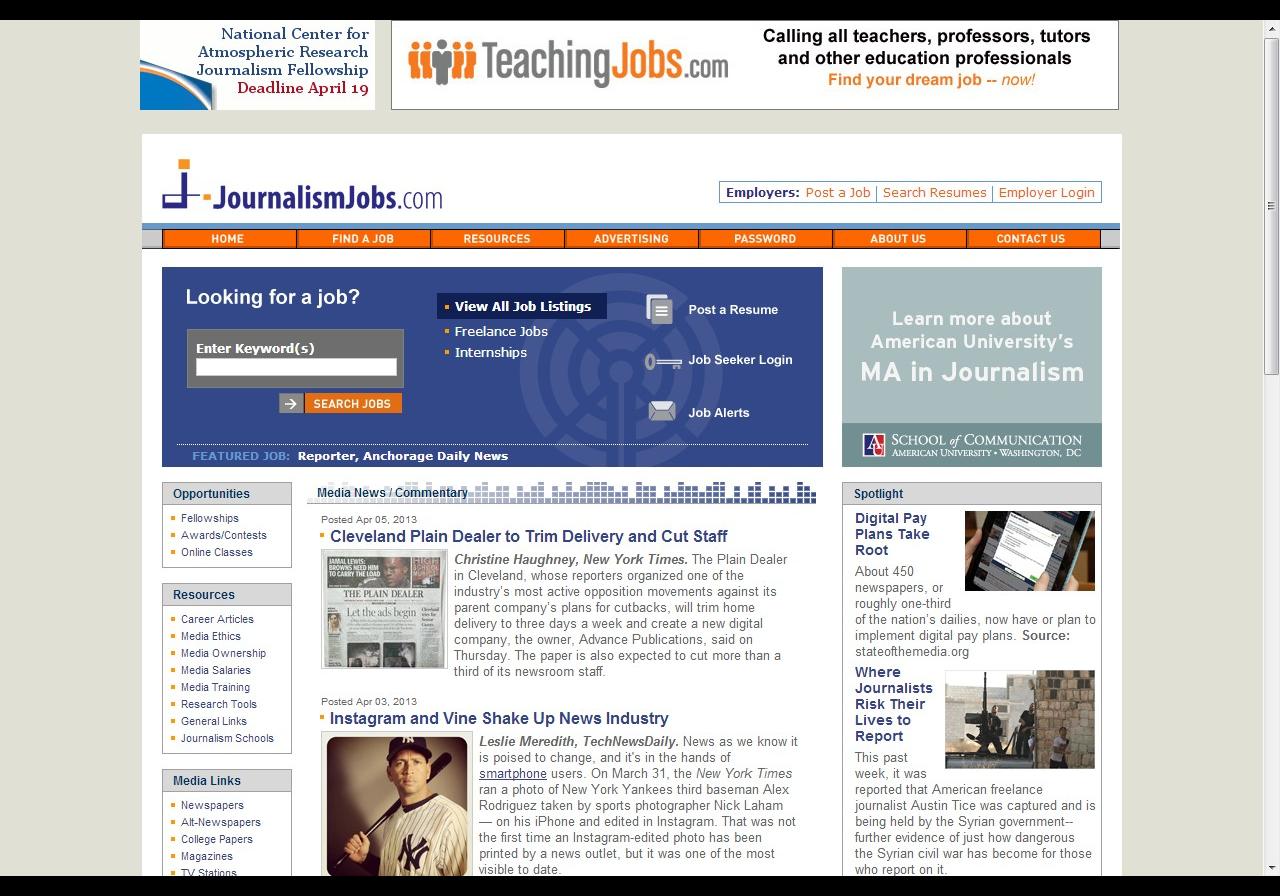 journalismjobs.com http://www.journalismjobs.com/