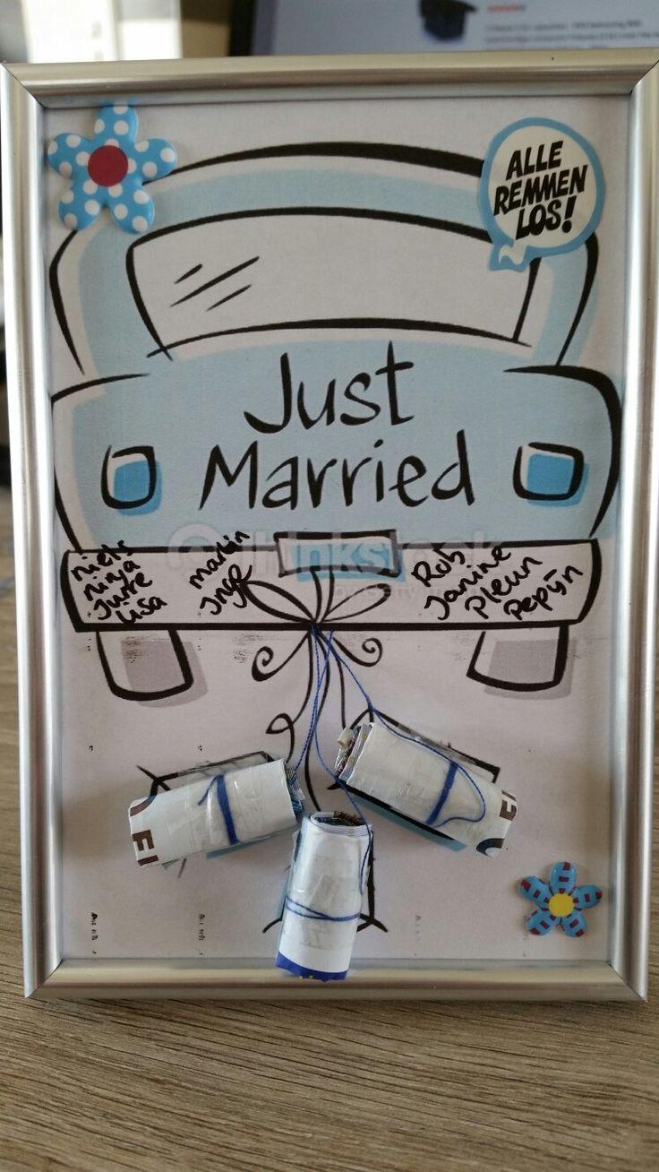 Geldgeschenk zur Hochzeit kreativ gestaltet