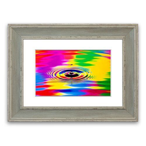 'Rainbow Water Ripple Cornwall' Framed Photographic Print East Urban Home Size: 50 cm H x 70 cm W, Frame Options: Blue #waterripples 'Rainbow Water Ripple Cornwall' Framed Photographic Print East Urban Home Size: 50 cm H x 70 cm W, Frame Options: Blue #waterripples
